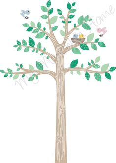 Colourful Tree decal for girls garden room