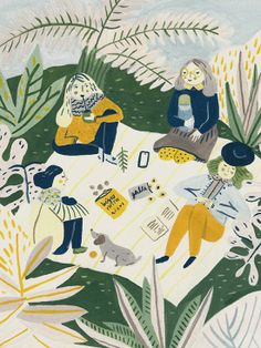 Illustration of a picknick. So lovely - I wish I was there..