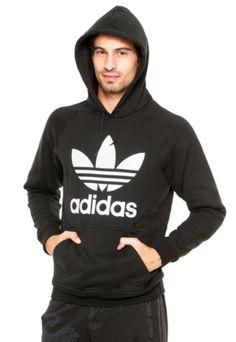 Moletom adidas Originals Trefoi Preto 3e0a093c469b0