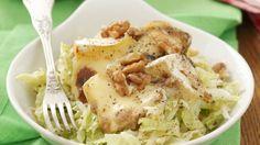Rezept: Chinakohl-Apfel-Salat mit Camembert