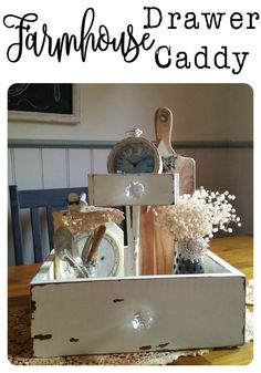 Old bits and pieces from a broken dressing table turned into a Farmhouse Drawer… Painted Furniture, Diy Furniture, Plywood Furniture, Repurposed Furniture, Modern Furniture, Furniture Design, Rustic Decor, Farmhouse Decor, Farmhouse Style