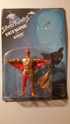 UNOPENED 1987 KENNER SILVER HAWKS SILVERHAWK HOTWING WITH GRYO ACTION FIGURE #SilverHawks