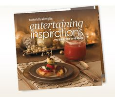 Get inspired to entertain this season with the fun, easy and elegant recipes! Our Entertaining Inspirations book is great for stocking stuffers, holiday gifts, host gifts and for all of the people in your life who love to entertain!