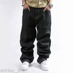 John Sean Hip Hop Clothing | Mens Jeans Sean John Baggy Loose Denim Hip-Hop Rap Streetwear P.Diddy ...