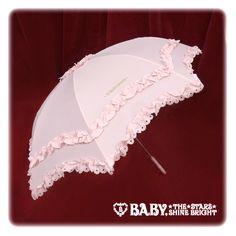 Baby, the stars shine bright BABY frill folding umbrella