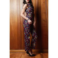 Attractive Sleeveless Printed Pencil Jumpsuit For Women