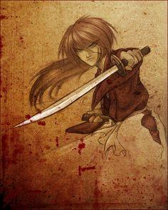 kenshin himura by tstn Kenshin Anime, Rurouni Kenshin, Era Meiji, Ninja, Samurai, Double Picture, Black Lagoon, Blue Exorcist, Manga Characters
