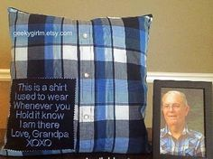 Memory Pillow memorial dad mom  gift for Mom personalized