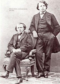 Johannes Brahms with Joseph Joachim
