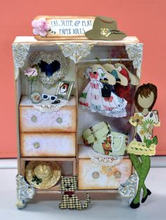 Julie Nutting Prima Dolls Stamps Collection Prima Paper Dolls, Prima Doll Stamps, Vintage Paper Dolls, 3d Paper Crafts, Scrapbook Paper Crafts, Fun Crafts, Scrapbooking, Julie Nutting, Doll Crafts