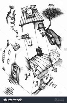 Old Russian Background by Eugene Ivanov #anton #chekhov #eugeneivanov #author #literature #russia #russian #writer #caricature #cartoon #literary_arts, #russian_writer #cherry_orchard #modernism #playwright #seagull #uncle_vanya #@eugene_1_ivanov