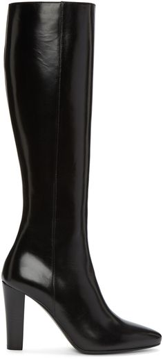 d4f0e64d1e7 SAINT LAURENT Black Leather Lily Boots.  saintlaurent  shoes  boots Black Heel  Boots