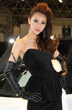 Elegant Gloves, Promotional Model, Gloves Fashion, Black Leather Gloves, Silhouette, Dame, Girls, Sexy Women, Cute Outfits