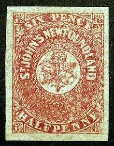 Newfoundland #21 1861 6 1/2p Imperf XF MLH OG Rich