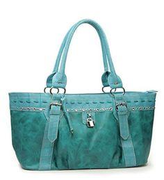 Blue Rhinestone Fashion Large Handbag - Handbags, Bling & More!