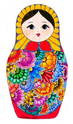 Russian Culture, Russian Art, Matryoshka Doll, Kokeshi Dolls, Painted Rocks, Hand Painted, Illustrations, Doll Patterns, Paper Dolls