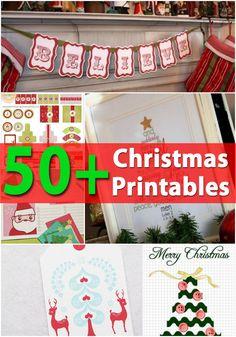 50+ Creative Christmas Printables Collection
