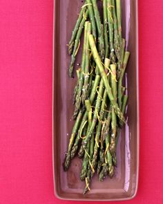 Asparagus with Lemon Butter - Martha Stewart Recipes