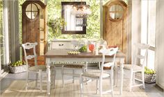Dining Room by Arhaus  Anduze White Dining Table