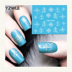 YZWLE 1 Sheet DIY Decals Nails Art Water Transfer Printing Stickers Accessories For Manicure Salon (YZW-7015)