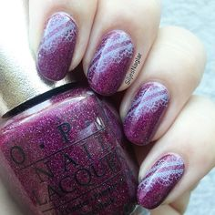 OPI DS Extravagance and a stamp with OPI I canoli wear OPI and BM-323