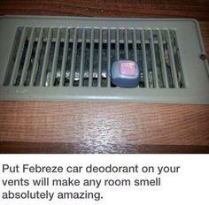 Such a good idea for any room! - 25 Dorm Room Tips, Tricks For Organization & De... #Organization #Tricks Febreze Car, College Hacks, College Students, Dorm Room, Dorm Ideas, Deodorant, Dorm, Student Spare Room, Bedroom
