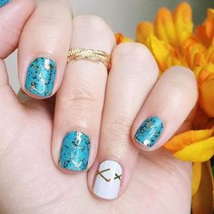 Turquoise and Gatsby - Jamberry - DIY - Nail Art
