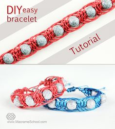 DIY Easy Macrame Party Bracelet / Tutorial: http://youtu.be/cclbqeueCdY #DIY…