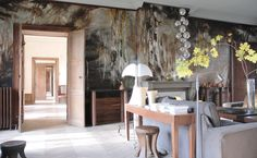 How lush is this painted wall by artist Claire Basler? In her French castle no less. All the photos are incredible - it's worth the cover price for this feature alone IMO. (Image from Inside Out
