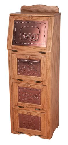 Details About Amish Vegetable Bin Bread Box Potato Storage