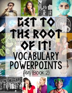 Greek and Latin root word PowerPoints! 20 presentations that cover over 60 Greek/Latin roots and 200 words. Vocabulary Instruction, Teaching Vocabulary, Grammar And Vocabulary, 6th Grade Reading, 6th Grade Ela, Fourth Grade, Sixth Grade, Third Grade, Teaching Critical Thinking