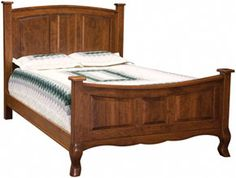 Amish Outlet Store : French Country Bed in Oak                      Favorite