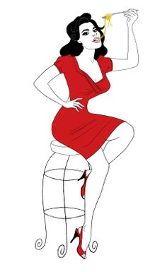 Pin-up Girl # 2. Nigella Lawson being her usual curvaceous self... #celebrityillustration #illustration #fashion #feminine #celebrity #celebrities #caricature