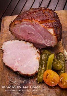 sunca fiarta servire Foto Transfer, Romanian Food, Yummy Food, Tasty, Carne, Steak, Bbq, Canning, Pork
