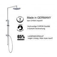 Duscharmatur Regendusche Duschsäule Duschsystem ohne Mischer 250mm Kopfbrause