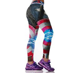 0fe2c0126e Women Sports Gym Yoga Running Fitness Captain America Leggings Pants  Athletic Trousers * You can find more details by visiting the image link.  (This is an ...