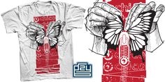 """""""Gzy Ex Silesia - Butterfly FOR SALE!"""" t-shirt design by Gzy Ex Silesia"""