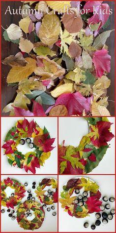 Nohama pevně na zemi...ale jen někdy;): DYI: Fall crafts for kids - Podzimní tvoření s dětmi