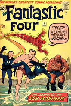 Fantastic Four #4 Jack Kirby (May 01, 1962) _LXII_