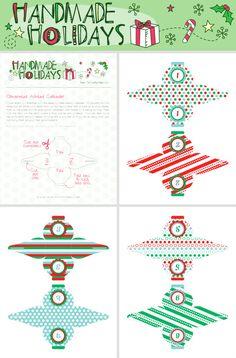 Free DIY Printable Christmas Ornament Advent Calendar