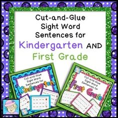 Best-selling Cut-and-Glue Sentences!  - Enter for a chance to win this best-selling set of cut-and-glue sight word sentences!  It has over 110 Dolch sight words, such as I, see, it, a, do, that, one, two, red, yellow, pretty, which, friend, will, play, please, and many more!  Students practice important fine motor skills.  They learn sight words, punctuation and capitalization while reading full sentences. It makes a great addition to your literacy center or small group reading instruction.