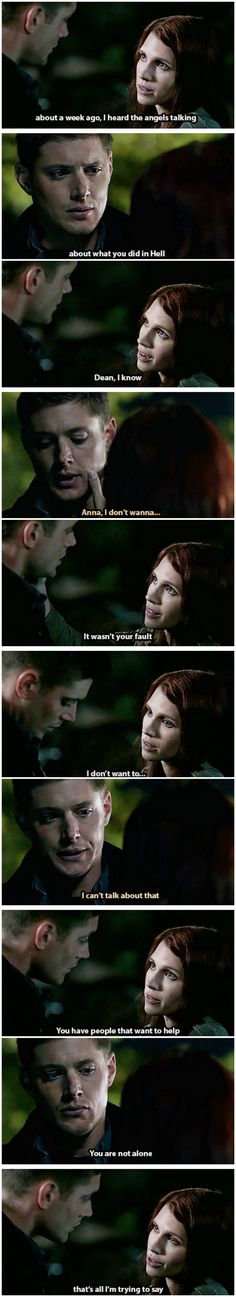 [gifset] 4x10 Heaven and Hell - The look on his face when she touches him - he breaks my heart...