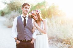 Arizona Desert Bohemian Engagement Session  (The lighting in this session is SO dreamy!!!)