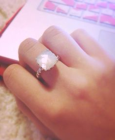 Sincerity Mother of Pearl Pandora ring. Obsessed!