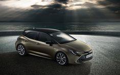 Télécharger fonds d'écran Toyota Auris Hybride, 4k, parking, 2018 voitures, Auris Hybride, japonais, Toyota