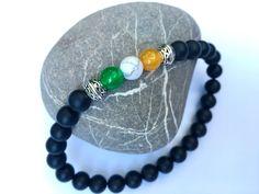 Men's Irish flag bracelet from JoyfulByNature. A great handmade gift. https://www.etsy.com/listing/468315245/mens-irish-flag-bracelet-irish-boyfriend #etsymntt #irish #mensgift #menswear