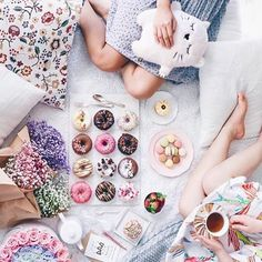 Happy Saturday Morning with 🌸🍩 via