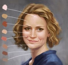 A short tutorial on how to paint skin tones that look warm and natural.