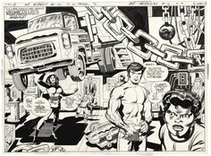The  New  Gods  Big  Barda  and  Mister Miracle  by  Jack  Kirby