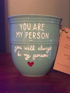 You Are My Person Greys Anatomy Quote coffee cup   All coffee mugs are made to order. If you are left-handed and would like your design to be to the